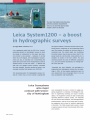 Leica Reporter 53 Leica System 1200 A boost in hydrographic surveys