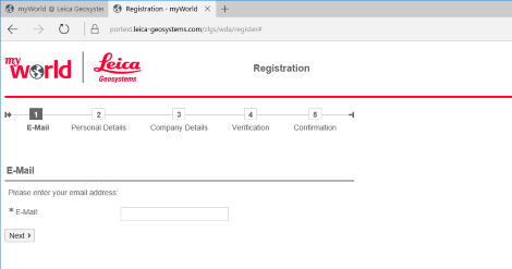 myworld registration 1 e mail